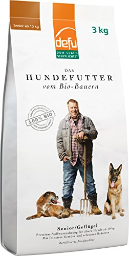 defu Hundetrockenfutter für ältere Hunde 3 kg, Hundefutter mit hohem Fleischanteil