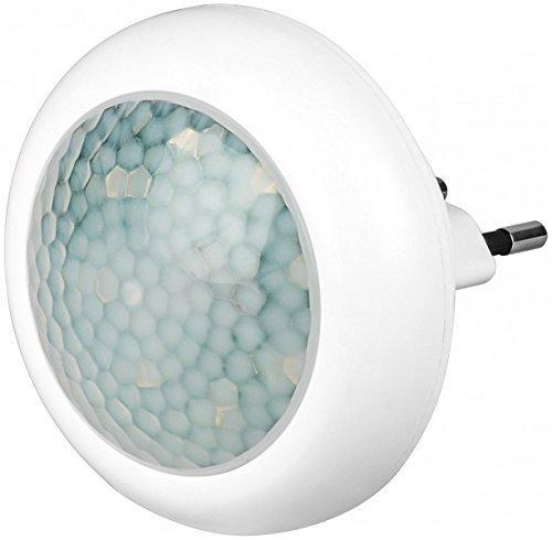 Veilleuse LED ronde Avec détecteur de mouvement et capteur crépusculaire automatique