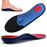 Walkomfy Heavy Duty Support Pain Relief Orthotics - 210+ lbs Plantar Fasciitis Arch Support Insoles for Men Women, Flat Feet Orthotic Insert, Work Boot Shoe Insole, Absorb Shock with Every Step