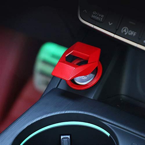JJJJD pour Seat Leon 5f Cupra R FR pour Ibiza TGI ATECA TARRACO Arona FR Carte de Voiture Démarrer Bouton d'arrêt Bouton de décoration Couvercle Couvercle Caractéristiques Autocollant (Color : Red)