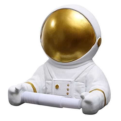 Baño portarrollos para papel higiénico El astronauta Rodillo del papel higiénico Estante creativo del rollo de papel higiénico tubo de papel higiénico caja de pared del sostenedor del tejido-Punch lib