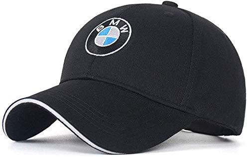 SUJWEL Car Logo Adjustable Baseball Cap,Unisex Hat Travel Cap Car Racing Motor Hat fits for BMW (Black)