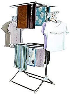 Leostar Double Layer Clothes Rack And Stand Drying Hanger CD1212, White