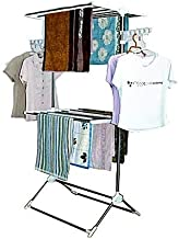 Leostar CD-1212 Double Layer Clothes Rack and Stand Drying Hanger - White