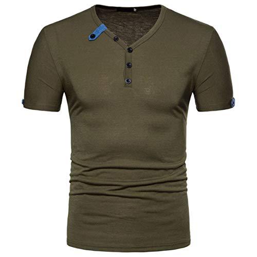 FUQUAN Herren Basic Langarm Golf T-Shirt Baumwolle Polohemd Herren Langarmshirt Poloshirt Herren Sommer T-Shirt Polo Kragen Slim Fit Baumwolle-Anteil Basic schwarzes Herren Kurzarm T-Shirt