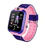 Q12 Smart Watch Kid Smartwatches Baby Watch 1,44 Pulgadas Chat de Voz Buscador de GPS Rosa Impermeable