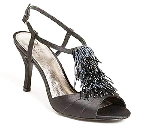 Adrianna Papell Majesty Womens Textile Dress Sandals Shoes (7.5 M) Black
