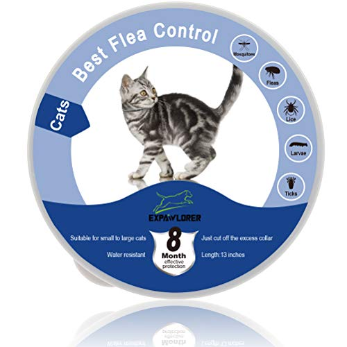 EXPAWLORER Collar Impermeable para pulgas y garrapatas para