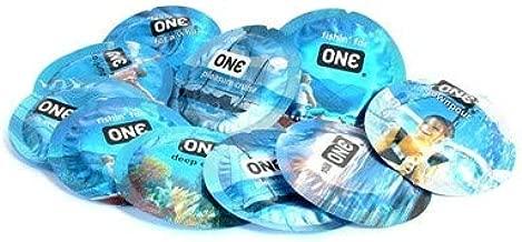 ONE Pleasure Plus with Silver Lunamax Pocket Case, Premium Lubricated Latex Condoms-24 Count
