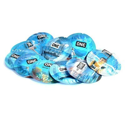 ONE Pleasure Plus with Brass Lunamax Pocket Case, Premium Lubricated Latex Condoms-24 Count
