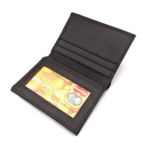 JuliDon Slim Wallet Brown Genuine Soft Leather Portrait Format Men's Wallet Genuine Leather
