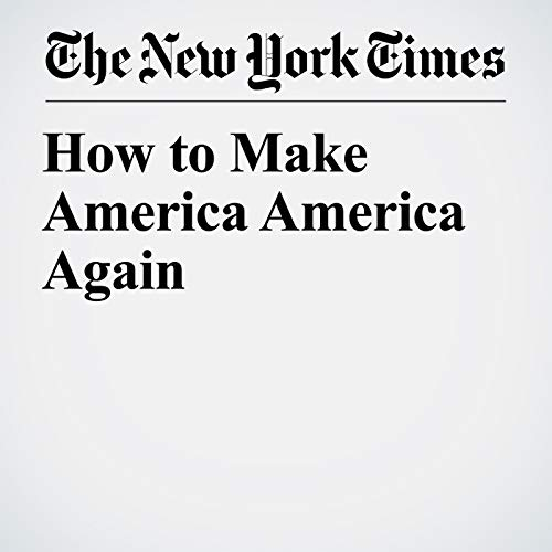 How to Make America America Again audiobook cover art