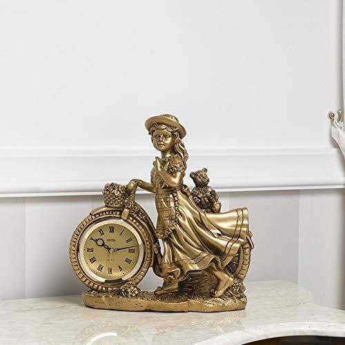 Simone Guarracino Tischuhr kleines Mädchen Imperial Barock Stil Gold
