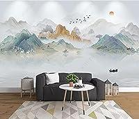 3D壁紙壁画 中国の風景の石の大理石 リビングルームの寝室の壁の装飾の壁画の壁紙