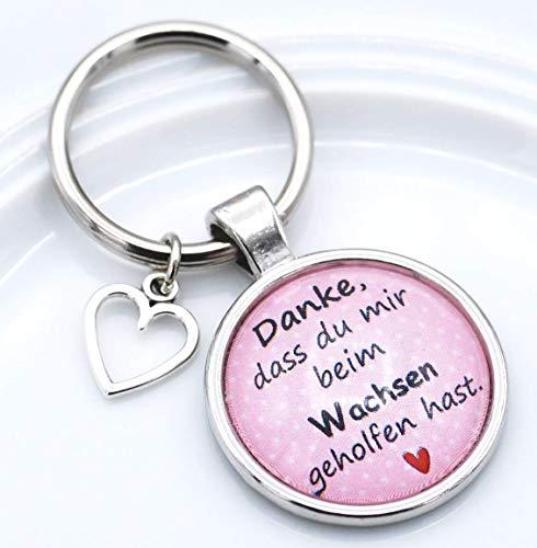 Schlüsselanhänger Cabochon Erzieherin Danke Schlüsselring Kindergarten Tagesmutter Abschied Geschenk