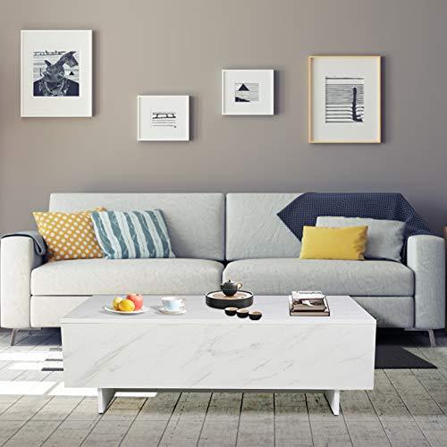 Couchtisch Wohnzimmertisch Moderne Beistelltisch Hochglanz Spanplatten Kaffeetisch Couchtischmöbel für Wohnzimmer, 109,5 x 54 x 35 cm