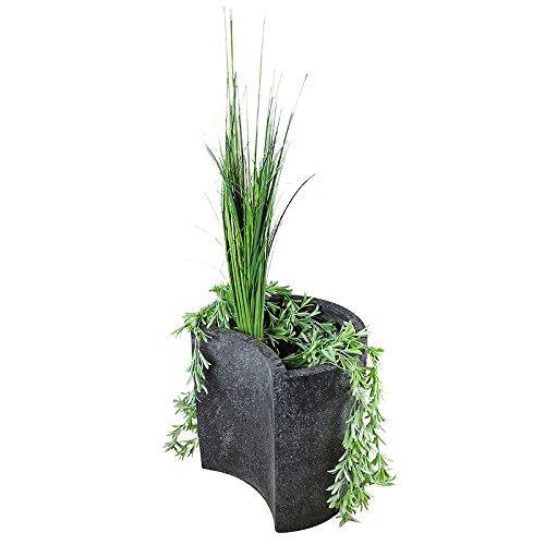 Heissner Interline Garten/Terrassen Brunnen Fiberstone Planter Gardia I, schwarz