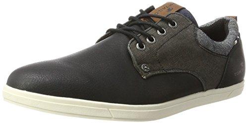 TOM TAILOR 3781201, Zapatos de Cordones Derby Hombre, Negro, 40 EU