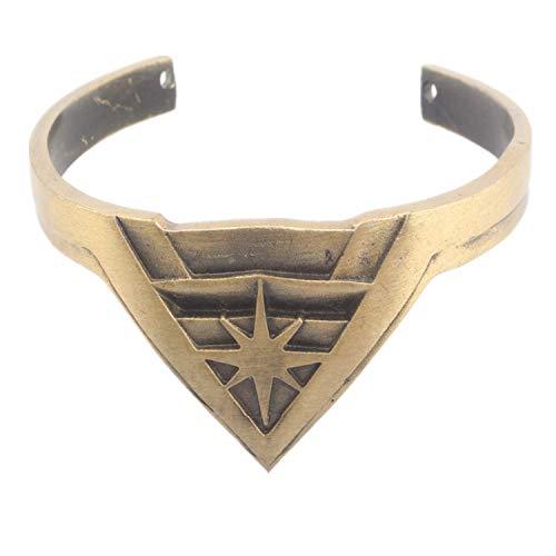 Hzzzzz Wonder Woman Bangle Crown Tiara Shape Open Bracelet Present for Women