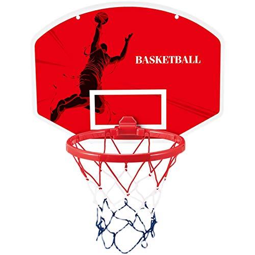 ZZLYY Mini Juego De Aro De Baloncesto,Juego De Aro De Baloncesto para Montar En La Pared, Jardin Juguetes Regalos para Niños Incluyendo Inflador Y Pelota