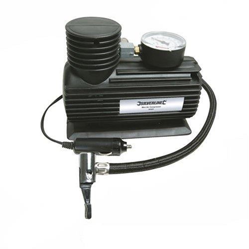 Silverline 425689 - Mini compresor de aire 12 V CC