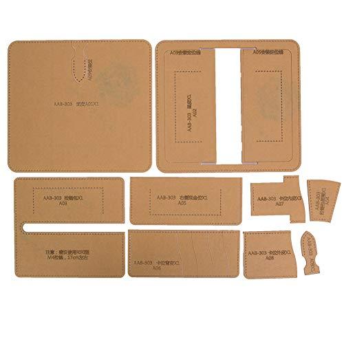 Plantilla para hacer carteras con cremallera Plantilla para hacer carteras Plantilla para manualidades en cuero para manualidades