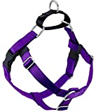 2 Hounds Design Freedom No Pull Dog Harness | Adjustable Gentle Comfortable Control for Easy Dog Walking |for Small Medium and Large Dogs | Made in USA | 1' XL Purple
