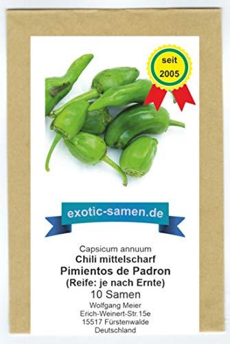 Chili - Bratpaprika - Pimientos de Padron - spanische Spezialität - 10 Samen