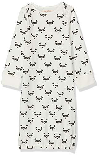 Lucy & Sam Bear Mask Sleepgown Pyjama, Blanc (White 81), 6-9 Mois (Taille Fabricant: 6-9m) Bébé garçon