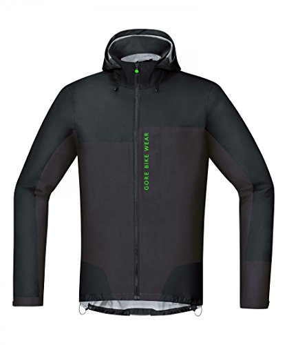 Gore Bike Wear Chaqueta MTB para Hombre, Gore-Tex Active, Power Trail Jacket, Talla M, Negro/Marrón, JGPOTR