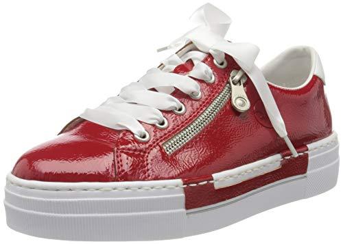 Rieker Damen Frühjahr/Sommer N49C2 Sneaker, Rot (Flamme/Weiss/ 33 33), 38 EU