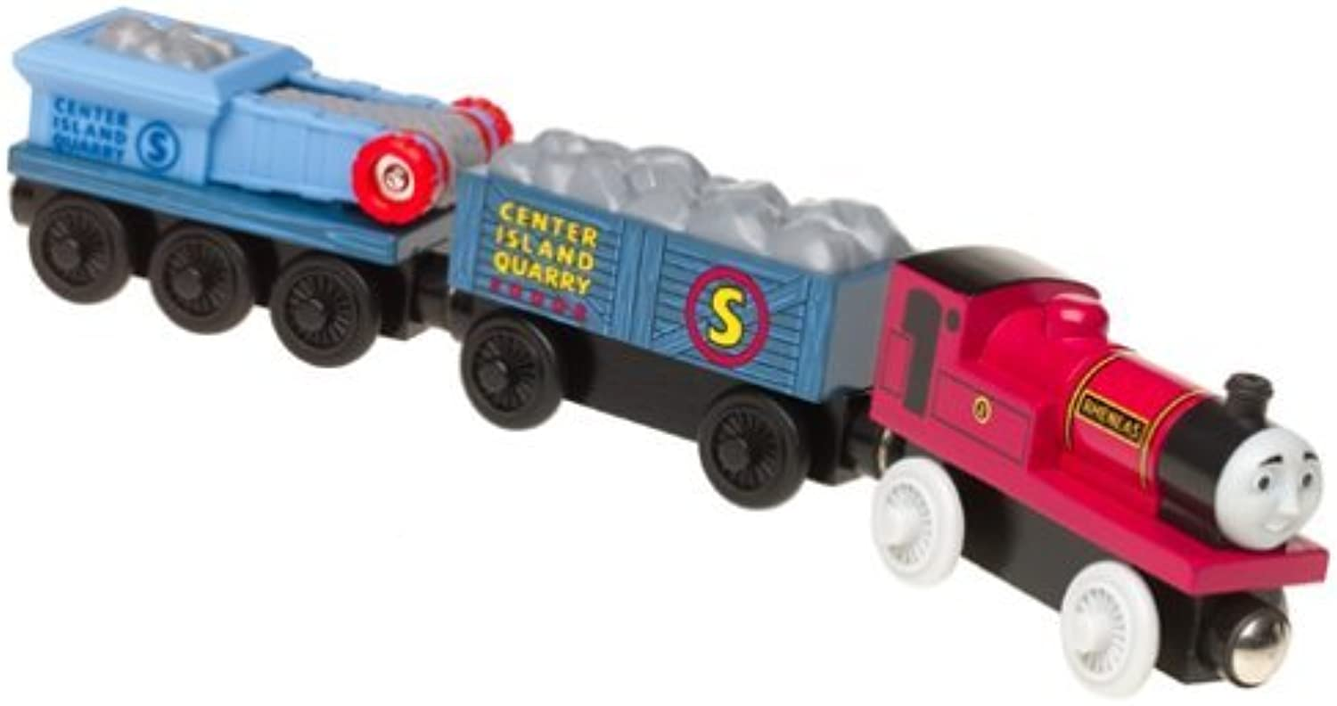 Thomas & Friends Wooden Railway  Rheneas & Rock Crusher Cars by Learning Curve