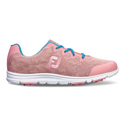 Footjoy Damen Enjoy Golfschuhe, (Pink/Aqua), 41 EU