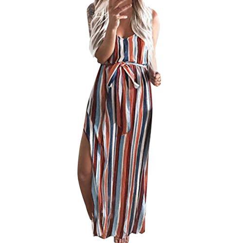 RYTEJFES Umstands Gerafften Stillkleid Schwangere Kleid Spaltung Abendkleid Ärmellos Elegentes Sommerkleider Umstandskleider Maxikleid Umstandskleid