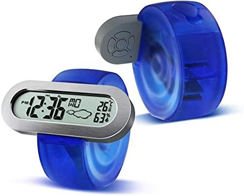 MingXinJia Relojes de Cabecera para el Hogar Despertador Digital, Hora/Alarma/Temperatura/Humedad/Snooze/Weather Water Energy Clock, Temporizador de Despertador Electrónico de Energía Hidro