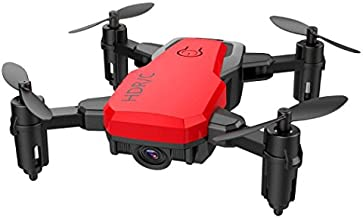 Cinhent Quadcopter Mini D2WH Foldable With Wifi FPV 0.3MP HD Camera, 2.4G 6-Axis RC Drone With Altitude Hold 4 Channels Toys, Good Choice for Drone Training (Red)