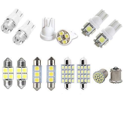 Fransande - 14 bombillas LED para interior de coche, interior de coche, luz DDMe, baúl, tarjeta de bombilla de matrícula
