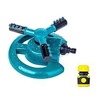 庭のスプリンクラー芝生のスプリンクラー自動360は、調節可能な大面積カバレッジ水スプリンクラーを回転させます