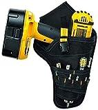 L-WSWS Llaves de juego Ajustable herramientas de Inicio Establece Llave de servicio pesado taladro inalámbrico Drive Funda Bolsa de herramientas de bolsillo Porta-puntas Bolsa de cinturón - Negro, Ini