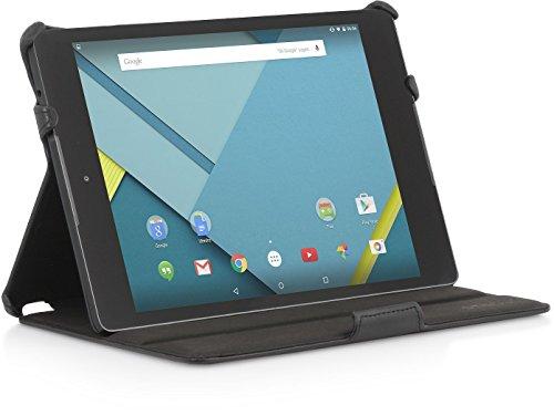StilGut UltraSlim Hülle, Tasche mit Stand- & Präsentationsfunktion für Google Nexus 9, schwarz