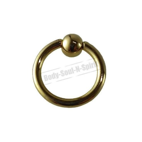 Boule Nez Lèvre Cercle OR 8mm BSR Perçage corps Cartilage Oreille 316L acier