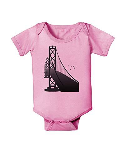 San Francisco Bay Bridge - Body para bebé recién Nacido, Color Rosa Blanco Blanco 12 Meses