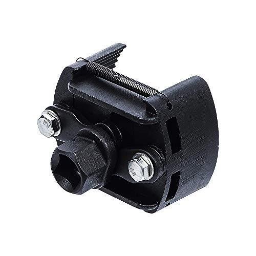 Gobesty Llave de filtro de aceite,Llave de Filtro de Aceite para 60-80mm, 2 mordazas ajustable Herramienta de eliminación de removedor de combustible Universal Herramientas para Coche Moto