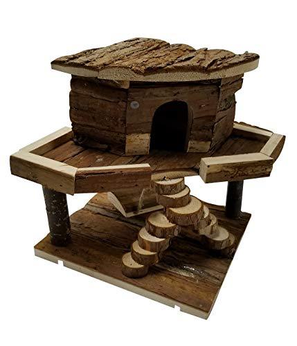 Dehner 4204046 - Casetta per roditori Jeany, ca. Dimensioni: 20 x 19 x 19 cm, in legno di abete, colore naturale