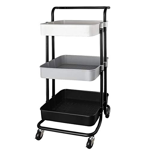 QiMH 3 Tier Rolling Storage Cart
