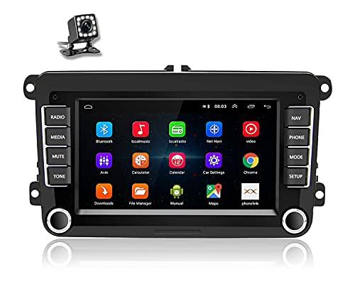 Android Radio de Coche 2 DIN para VW Passat Seat Golf Skoda TOURAN,7''HD Pantalla táctil,Autoradio WiFi con Navegador GPS,Reproductor de Coche con Canbus/Mirror Link/Cámara de Respaldo