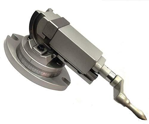 Tornillo de banco de precisión giratorio y ángulo inclinable de 2 vías (50 mm)