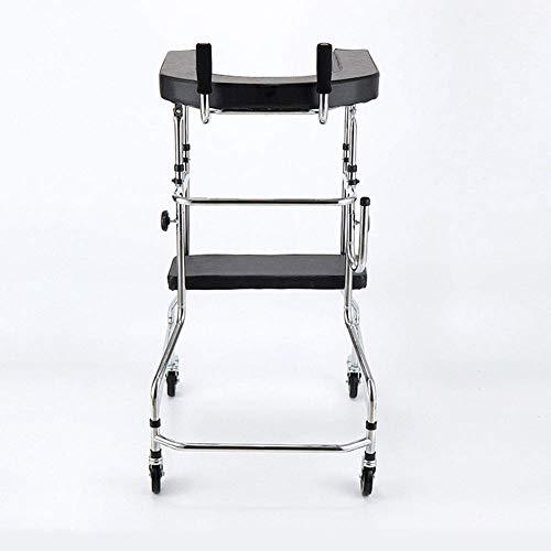 wheelchair Medizinischer Reha-Stuhl, Rollstuhl, leicht zusammenklappbare, verstellbare Walker-Fahrmedizin, Hirninfarkt, Hirn-Thrombose, Schlaganfall, Hemiplegie, Stehrahmen, älterer Walker