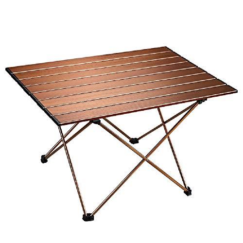Tavolo da picnic portatile da cucina Beach Hiking Party Tavoli da pranzo da campeggio Tavolo da barbecue pieghevole all'aperto Tavolo da giardino da giardino Tavoli da viaggio facili da riporre,Brown