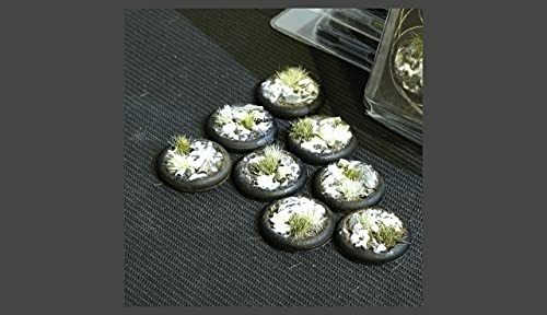 Gamers Grass Battle Ready Bases: Winter Round Lip 30mm (x8)